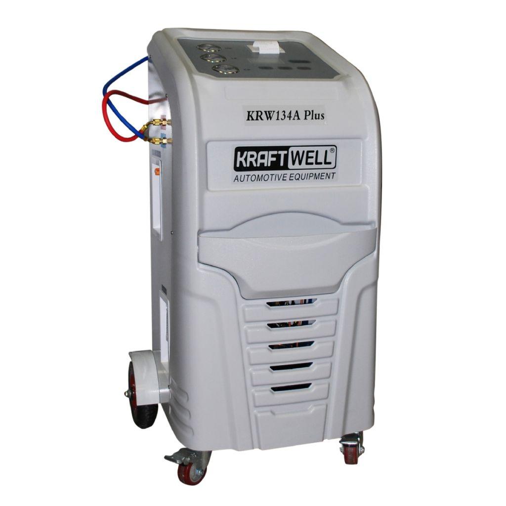 KRW134A PlusPR KraftWell Станция автоматическая для заправки автокондиционеров с принтером