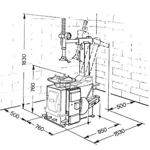 Станок шиномонтажный, п/автомат, с накчкой б/к шинспециальная форма рабочей головки, позволяющая не повреждать диски автомобилей группы vag